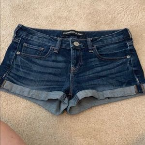 Express jeans dark wash shorts